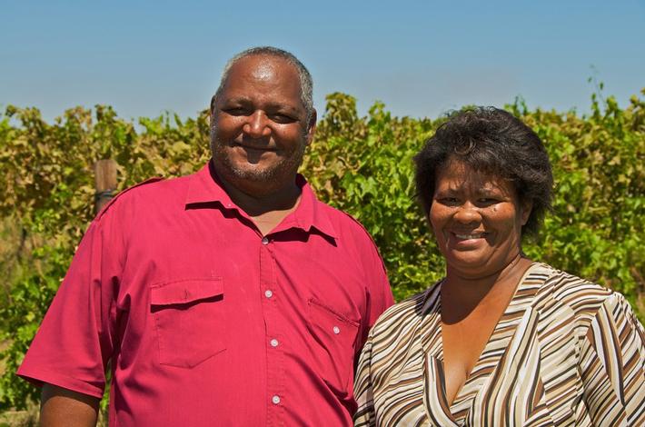 Pieter Van Wyk z żoną, spółdzielnia Eksteenskuil Agricultural Cooperative
