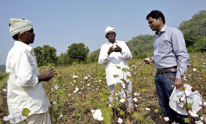 Rolnicy ze spółdzielni Chetna Organic w Indiach