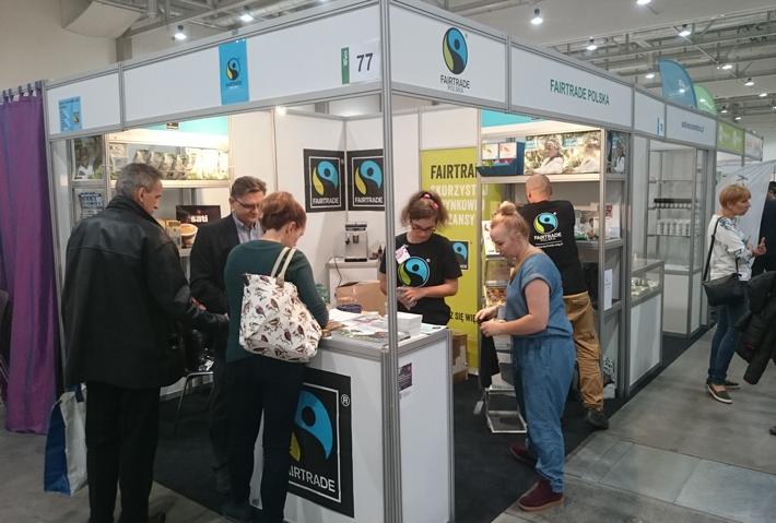 Stoisko Fairtrade Polska na targach Natura Food 2016